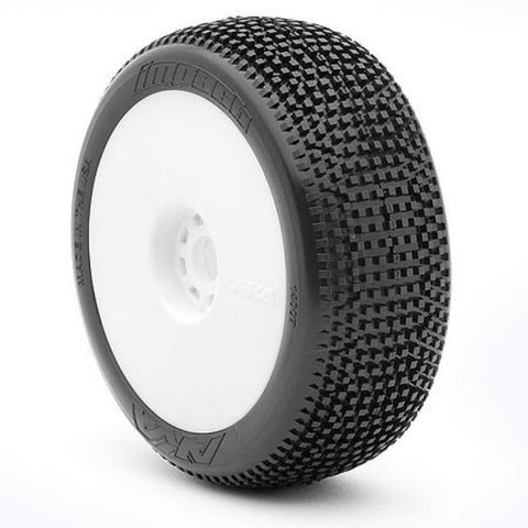 AKA 1/8 Buggy IMPACT (Soft - Long Wear) EVO Wheel Pre-Mounted White