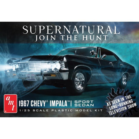 AMT 1/25 Supernatural 1967 Chevy Impala 4 Door Plastic Kit