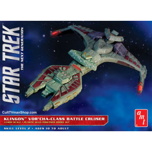 AMT 1027 1/1400 Star Trek Klingon Vor'cha Plastic Model Kit