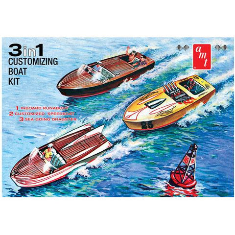AMT 1/25 Customizing Boat (3-in-1) Plastic Kit
