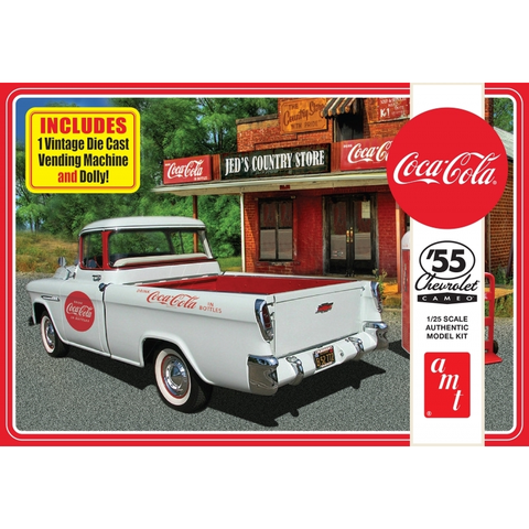 AMT 1:25 1955 Chevy Cameo Pickup (Coca Cola) Plastic Kit