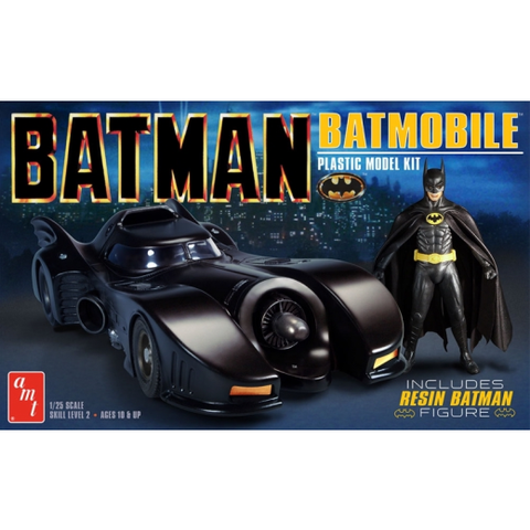 AMT 1:25 1989 Batman Batmobile W/Resin Batman Figure Movie