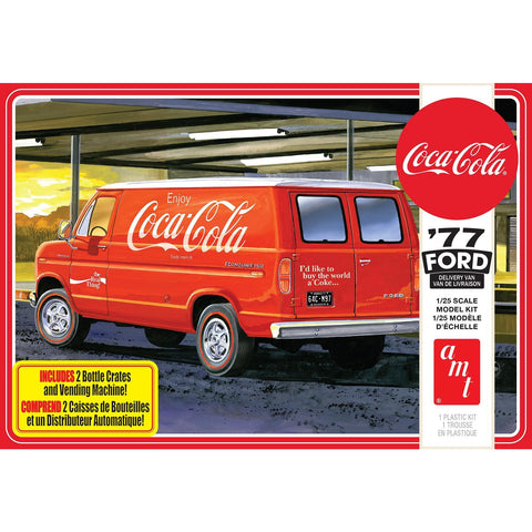 AMT 1/25 1977 Ford Van w/Vending Machine Coca Cola 2T Plast