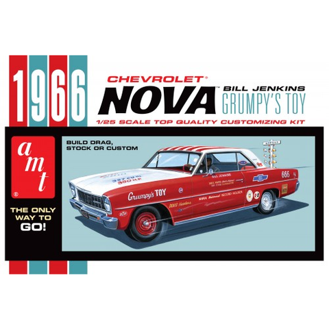 AMT 1:25 1966 Chevy Nova Bill Jenkins Plastic Kit