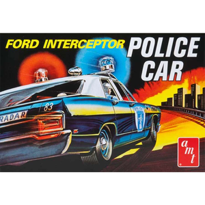 AMT 70 FORD GAL INTER. POLICE CAR 1: 25