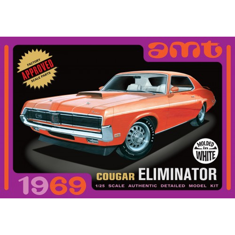 AMT 1/25 1969 MERCURY COUGAR - WHITE