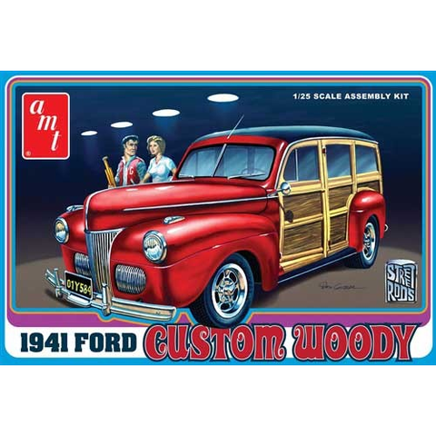 AMT 1/25 1941 Ford Woody Plastic Kit