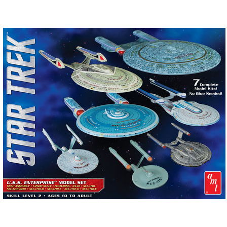 AMT 954 1/2500 Star Trek U.S.S. Enterprise Box Set - Snap