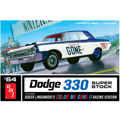 AMT 1:25 Color Me Gone II 1964 Dodge 330 Super Stock Plasti