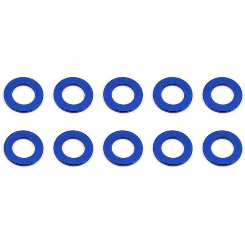 ASSOCIATED Ballstud Washers, 5.5x0.5 mm, blue aluminum for B6.1,B6.1D,B64,T6.1 (ASS31381)