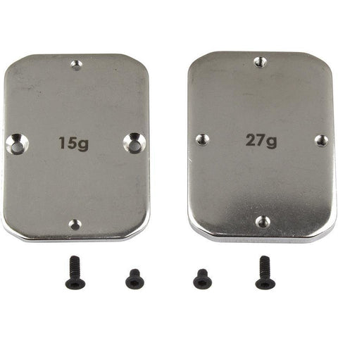 ASSOCIATED FT Steel Chassis Weights, 15g, 27g for ,B64, (ASS92101)