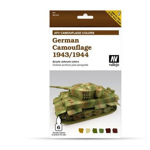 Vallejo Model Air AFV Set German Camouflage 1943/1944 6 Col