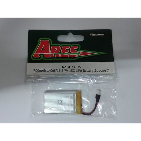 Image of ARES 700MAH 1-CELL/1S 3.7V 15C LIPO BATTERY: SPECTRE X