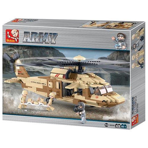 SLUBAN Army UH-60L Blackhawk Helicopter 434pcs