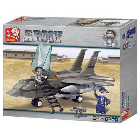 SLUBAN Army F-15 Fighter Plane 142pcs
