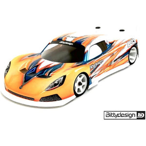 BITTYDESIGN GT12 LS3 Clear body shell for 1/12th Supastox Class (BDGT12-LS3)