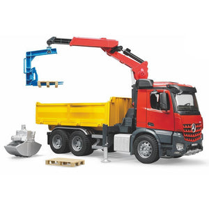 BRUDER MB Arocs Construction Truck with Crane & Accessories