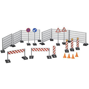 BRUDER Accessories Construction Set: Railings, Site Signs & Pylons BWORLD