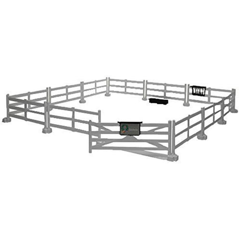 BRUDER Accessories: Horse fence - Post & Rail (white), (replaces 62502) BWORLD