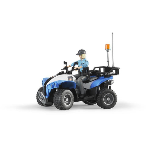 BRUDER Police Quad Bike with Policewoman & Accessories BWORLD