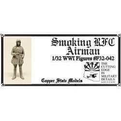 COPPER STATE MODELS 1/32 Smoking RFC Airman (CSM-F32-042)