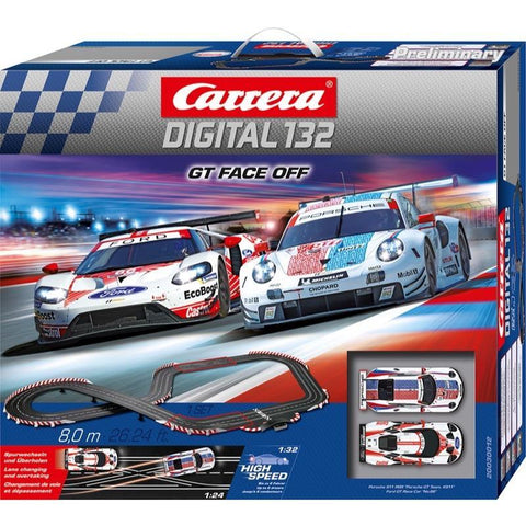 CARRERA Digital 132 GT Face Off Porsche 911rsr & Ford GT