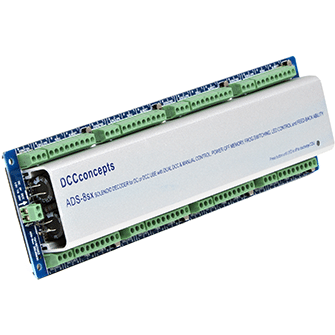 DCC CONCEPTS Accessory Decoder CDU Solanoid Drive SX 8-Way w/Power-Off Memory & Protective Case (DCD-ADS-8SX)