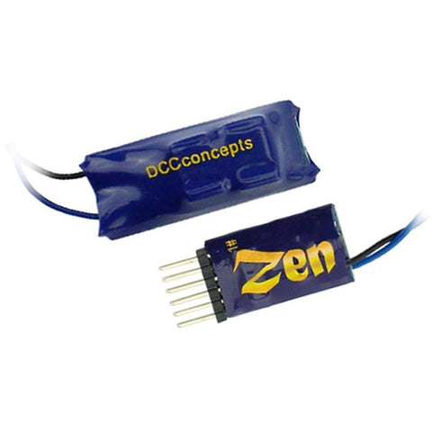 DCC CONCEPTS Zen 6 Pin Direct 2 Function Decoder w/Stay Alive (DCD-ZN6D-S)
