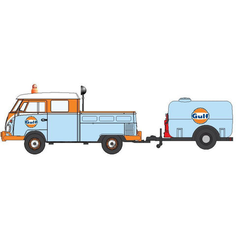 DDA 1/24 Gulf VW Pickup & Oil Tank Trailer
