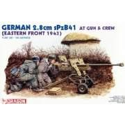 Dragon 6056 1/35 German 2.8cm sPzB41 at Gun w/Crew
