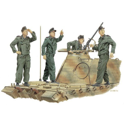 "Dragon 1/35 ""Achtung-Jabo!"" Panzer Crew (France 1944) (DR 6"