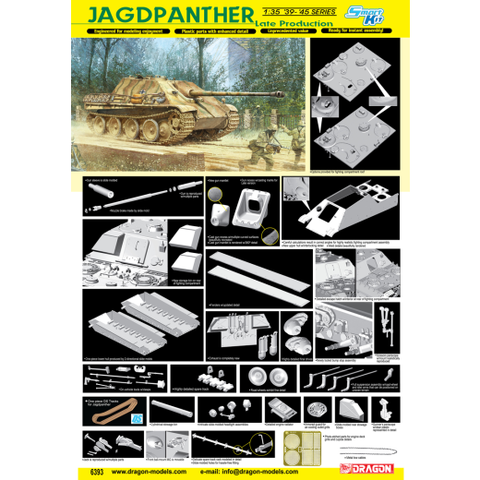 Dragon 6393 1/35 Jagdpanther Late Production (Smart Kit)