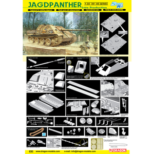 DRAGON 1/35 Jagdpanther Late Production (Smart Kit)