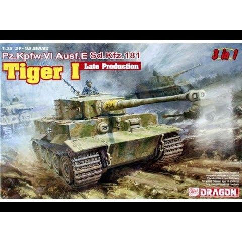 DRAGON 1/35 Tiger I Late Production (3 in 1) Plastic Model