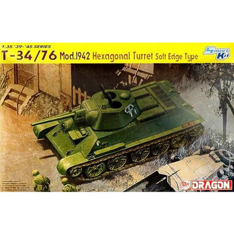 Dragon 6424 1/35 T-34/76 Mod.1942 Hexagonal Turret Plastic