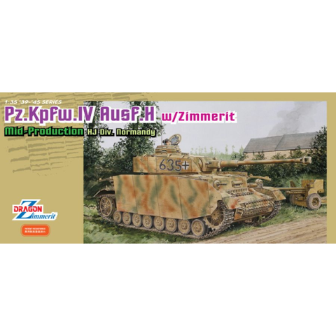 DRAGON 1/35 Pz.Kpfw.IV Ausf.H w/ Zimmerit Plastic Model Kit