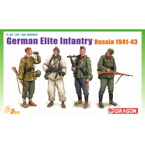 Dragon 1/35 German Elite Infantry, Russia 1941-43 (DR 6707)