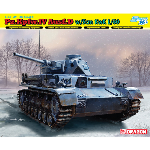 Dragon 6736 1/35 Pz.Kpfw.IV Ausf.D w/5cm L/60 (Smart Kit)