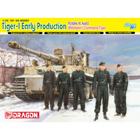 DRAGON 1/35 Tiger 1 Tank Early Production Wittmanns Command