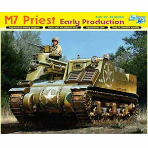 DRAGON 1/35 M7 Priest Early w/ Magic Track Plastic Model Ki