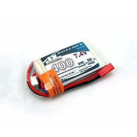 Image of DUALSKY LiPo Battery EX 400mAH 2S 30C W/JST