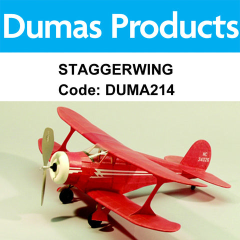 DUMAS 214 STAGGERWING WALNUT SCALE 17.5 INCH WINGSPAN PUBBE