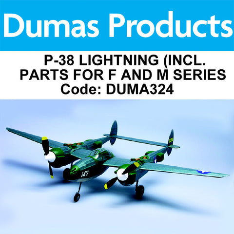 DUMAS 324 P-38 LIGHTNING (INCL. PARTS FOR F AND M SERIES) 3