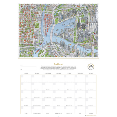 "The Melbourne Map ""Can You Find?"" Perpetual Calendar"