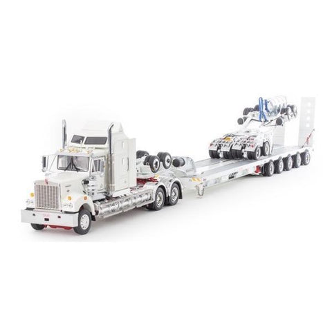 DRAKE 1/50 Kenworth T900 White Red w/- 2x8 5x8 White Trailer