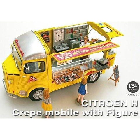 EBBRO 1/24 CITROEN H CREPE MOBILE WITH FIGURES (EBR-25013)