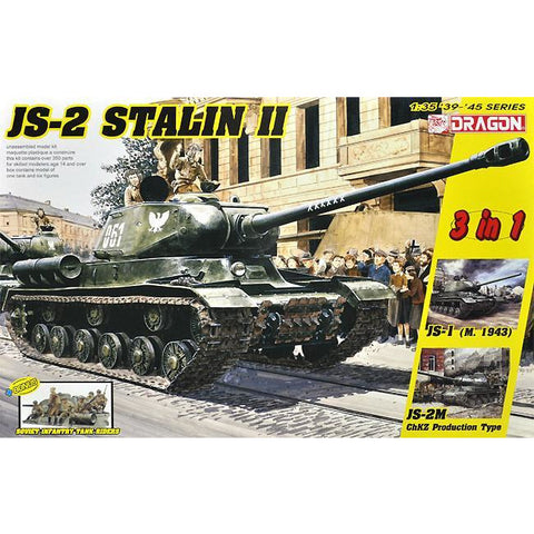 DRAGON 1/35 JS-2 Stalin II (3 in 1) + Soviet Infantry Tank Riders