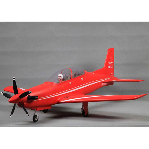 Image of FMS Pilatus PC-21 1100mm Red PNP W/ Reflex
