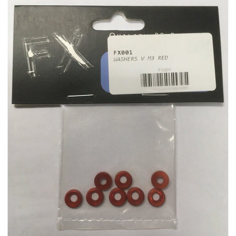 FX Washers V M3 Red (8)