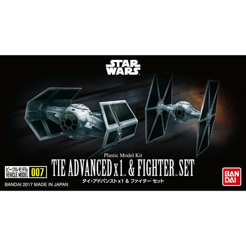 BANDAI  VEHICLE MODEL 007 TIE ADVANCED x 1 & FIGHTER SET